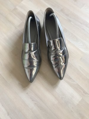 aeyde Slip-on Shoes silver-colored