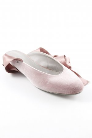 aeyde Slingback ballerina's stoffig roze elegant