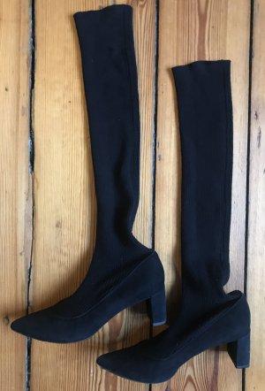 aeyde Laarzen met hak zwart