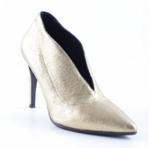 aeyde Pointed Toe Pumps gold-colored leather