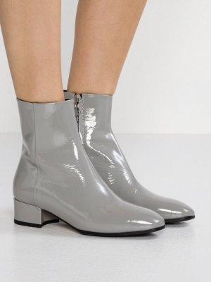 aeyde Zipper Booties grey-light grey