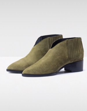 aeyde Stivaletto slip-on cachi