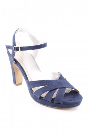 AF High Heel Sandal dark blue-beige elegant