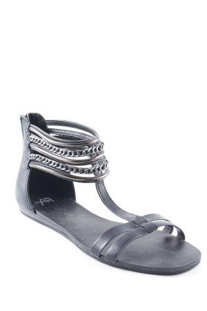 AF Outdoor sandalen zwart-zilver elegant