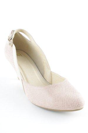 AF Décolleté modello chanel rosa chiaro-crema elegante