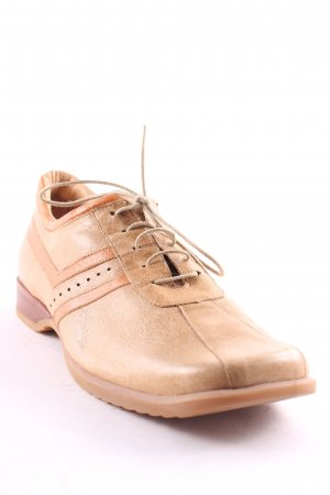 afis Lace Shoes beige-brown classic style