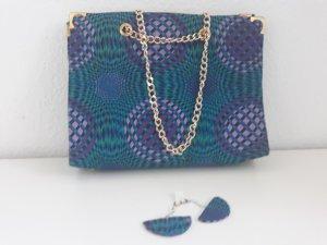 African Material Set Tasche und Ohrringe