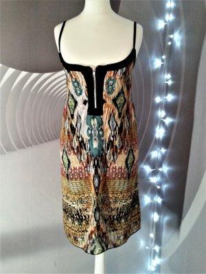 Afrika  Kleid Gr 40 Leo animal print Zip Dekolte neuwertig