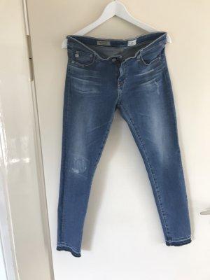 AG Jeans Skinny jeans blauw Katoen