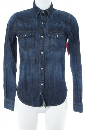 AG Jeans Denim Shirt dark blue casual look