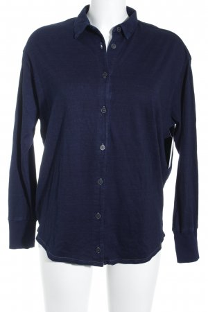 AG Jeans Long Sleeve Blouse dark blue casual look