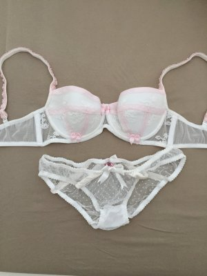Agent Provocateur Conjunto de lencería blanco-color rosa dorado