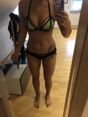 Agent Provocateur Bikini nero-giallo neon