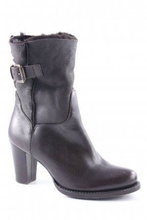 AGL Heel Boots dark brown classic style