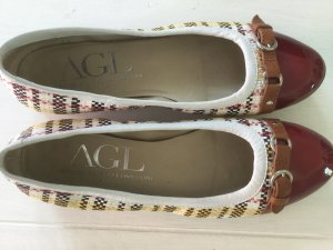 AGL Ballerinas dark yellow-red leather