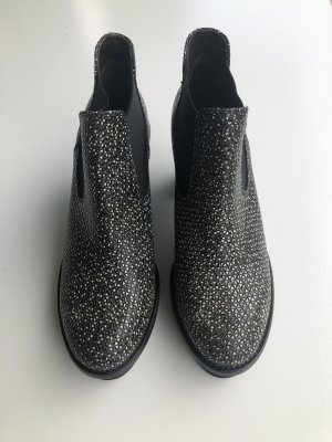 AGL Platform Booties black-white