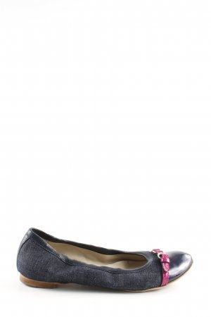 AGL Mary Jane Ballerinas blue-pink casual look