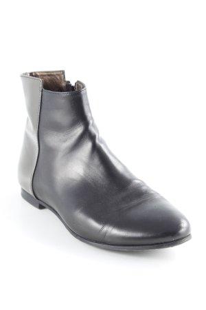 AGL Reißverschluss-Stiefeletten schwarzbraun-silberfarben Street-Fashion-Look