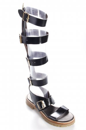 AGL Roman Sandals black street-fashion look