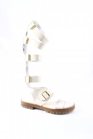 AGL Roman Sandals natural white-oatmeal street-fashion look