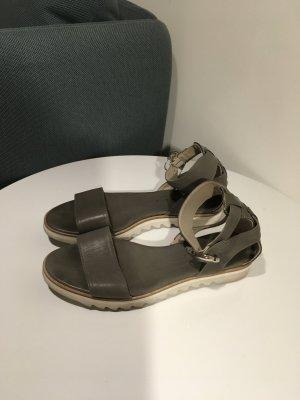 AGL Platform High-Heeled Sandal taupe