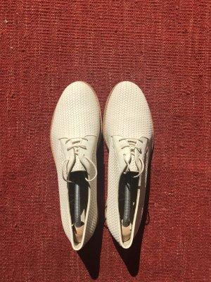 Attilio giusti leombruni Chaussures à lacets jaune clair cuir