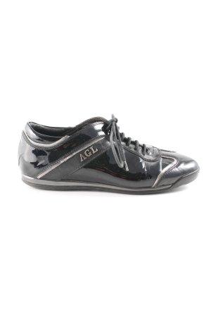 AGL Zapatos brogue negro look casual