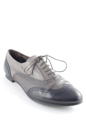 AGL Schnürschuhe schwarz-graubraun Elegant