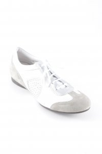 AGL Veterschoenen wit-lichtbruin atletische stijl