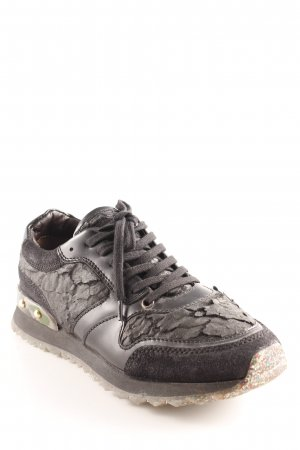 AGL Lace-Up Sneaker black camouflage pattern extravagant style