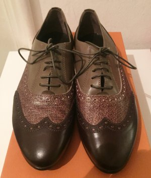 AGL Lace Shoes brown leather