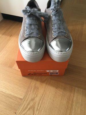 AGL Sneakers met veters grijs-bruin-zilver