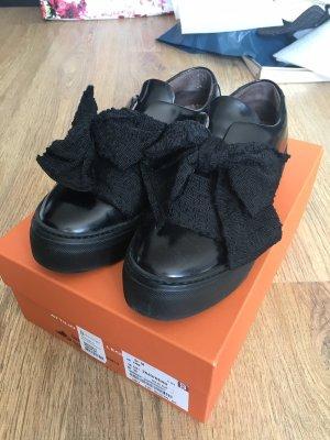 Attilio giusti leombruni Basket slip-on noir-gris anthracite cuir
