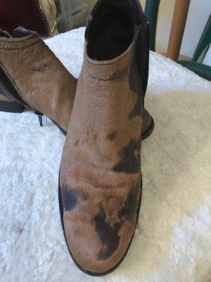 AGL Zipper Booties black-beige