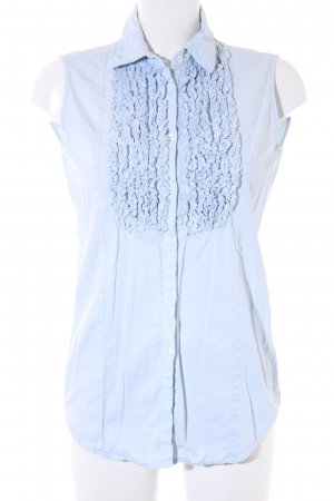 Aglini Blusa senza maniche azzurro stile casual