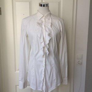 Aglini Stand-Up Collar Blouse white cotton