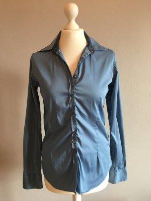 Aglini Long Sleeve Blouse steel blue