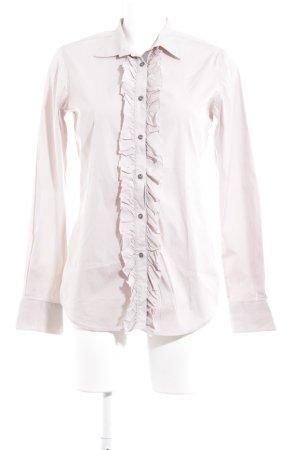 Aglini Hemd-Bluse beige Boyfriend-Look