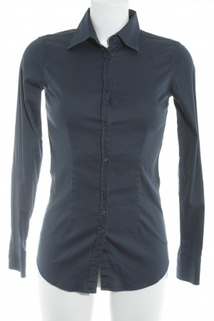 Aglini Hemd-Bluse dunkelblau Business-Look