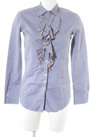 Aglini Hemd-Bluse graublau florales Muster Casual-Look