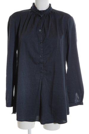 Aglini Langarm-Bluse blau Casual-Look