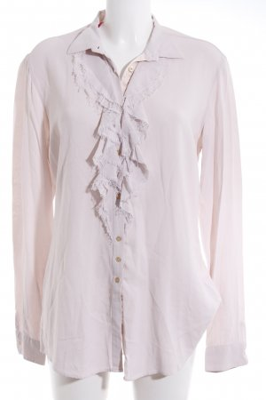 Aglini Long Sleeve Blouse dusky pink romantic style