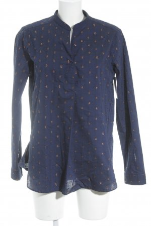 Aglini Long Sleeve Blouse blue-rose-gold-coloured spot pattern glittery