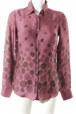Aglini Long Sleeve Blouse brown violet-violet spot pattern elegant