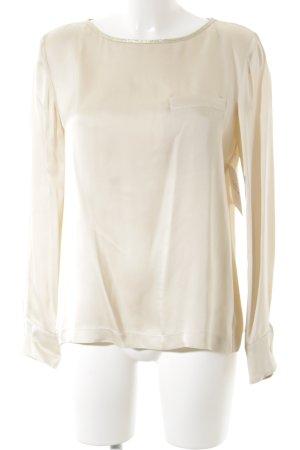 Aglini Camicetta a maniche lunghe crema-oro elegante