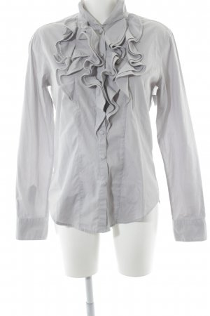Aglini Long Sleeve Blouse grey simple style