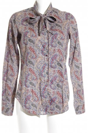 Aglini Long Sleeve Blouse mixed pattern casual look