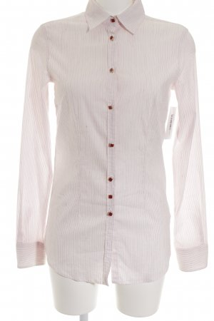 Aglini Long Sleeve Shirt bright red-natural white striped pattern elegant