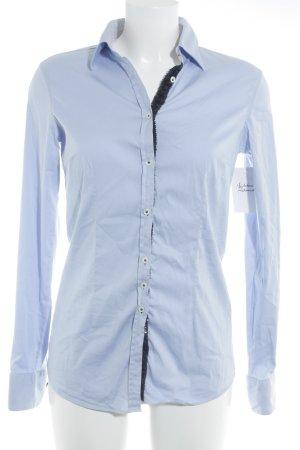 Aglini Langarmhemd himmelblau-dunkelblau Business-Look