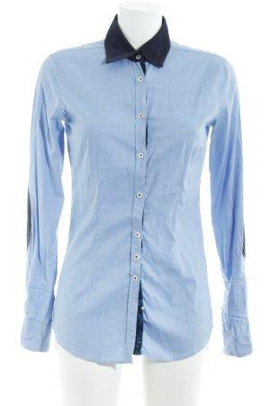 Aglini Camicia a maniche lunghe azzurro-blu scuro stile casual